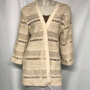 Chicos macrame look jacket